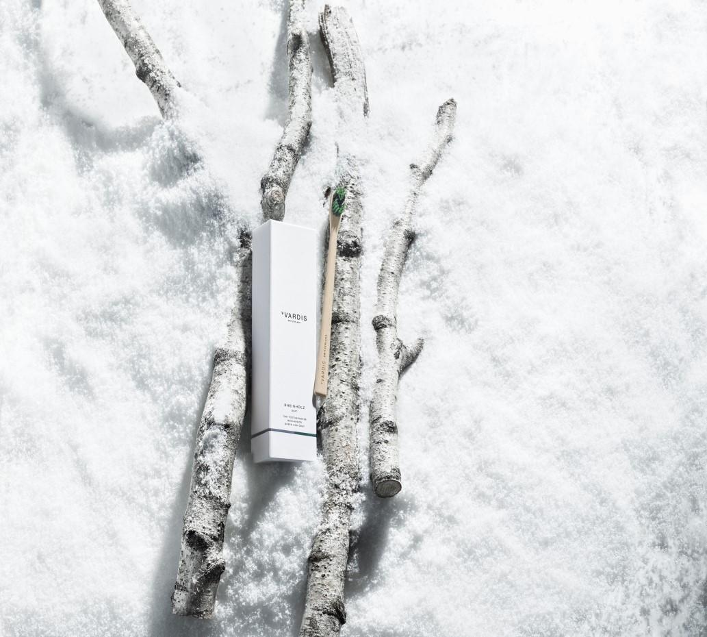 Rheinholz toothbrush on snow