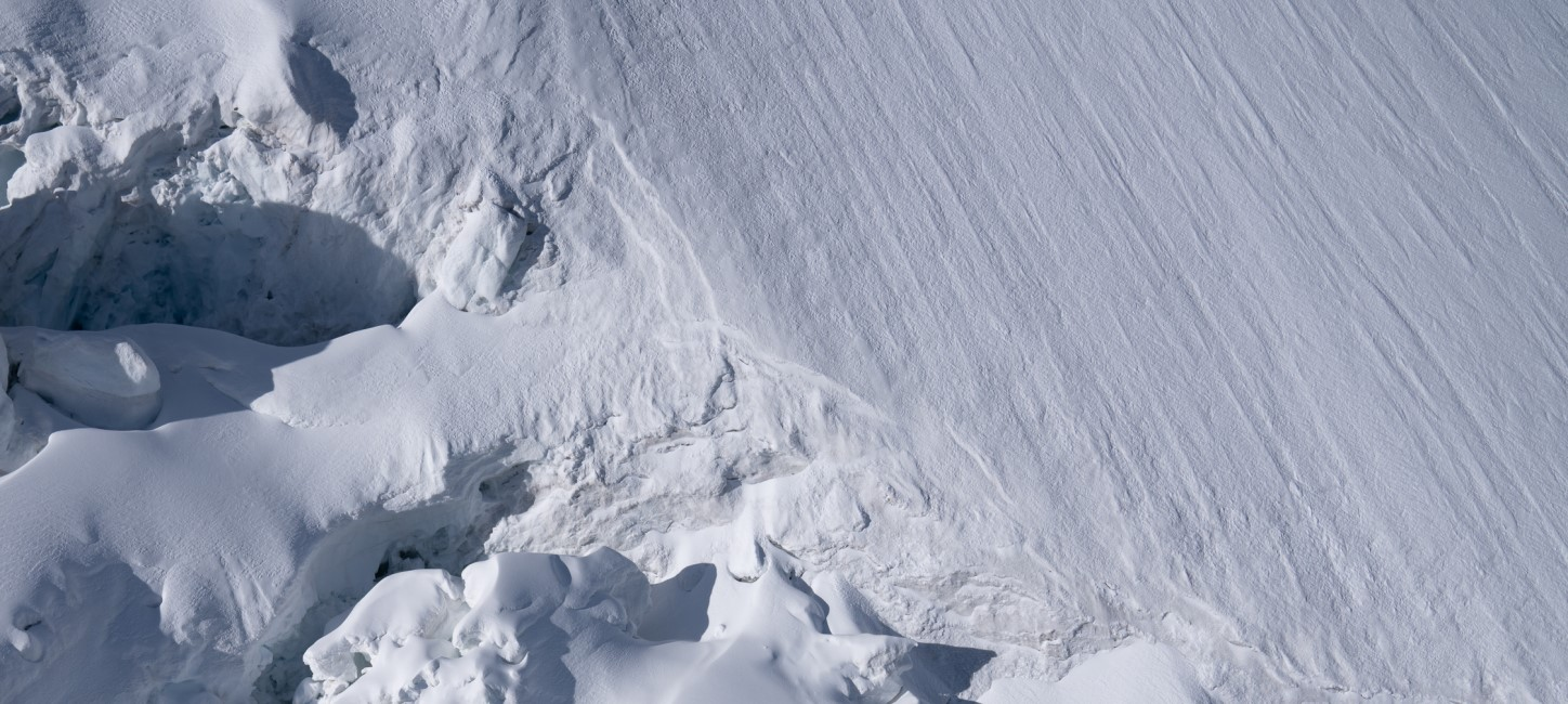 Snowy mountain slope photography