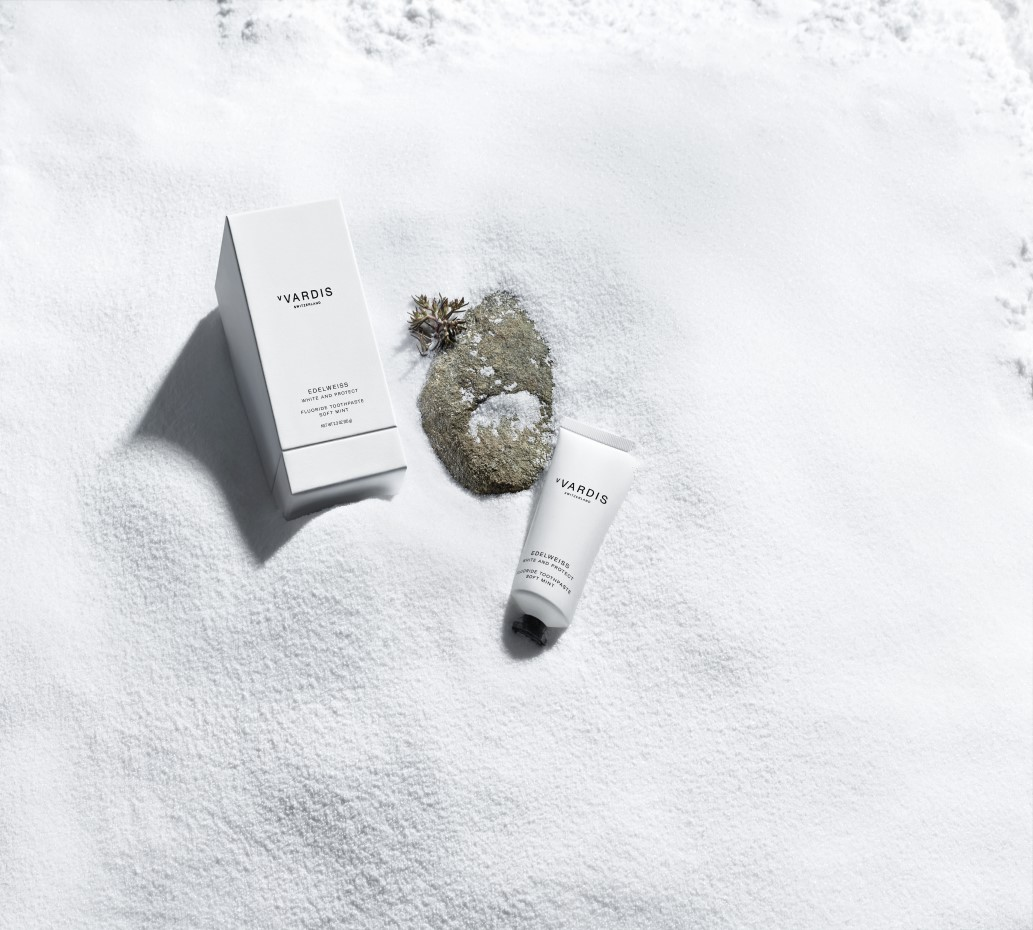 Edelweiss toothpaste on snow